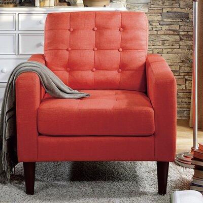 Catarina Arm Chair Upholstery: Orange