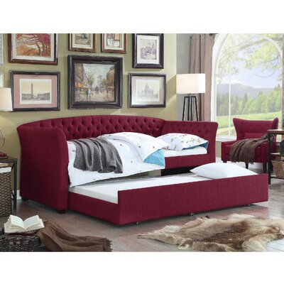Horace Twin Daybed with Trundle Color: Burgundy
