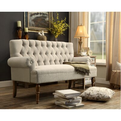 Buxton Tufted Upholstered Sofa/Settee Upholstery: Beige