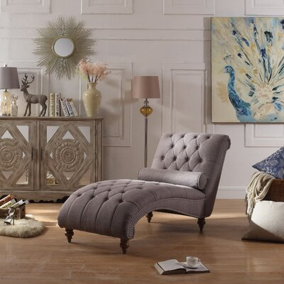 Yarmouth Chaise Tufted Lounge Chair Upholstery: Grey