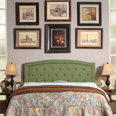 Fredon Upholstered Panel Headboard Upholstery: Green, Size: Twin