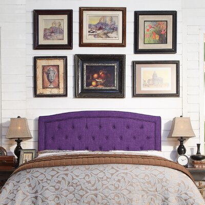 Fredon Upholstered Panel Headboard Size: Queen, Upholstery: Violet