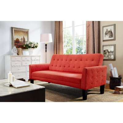 Arianna Sofa Bed Upholstery: Orange