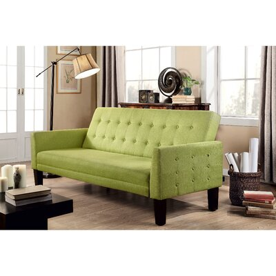 Arianna Convertible Sleeper Sofa Upholstery: Green