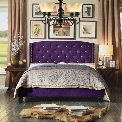 Martins Upholstered Panel Bed Size: Queen, Color: Violet