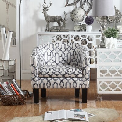 Ballew Barrel Chair Upholstery : Silver Gray