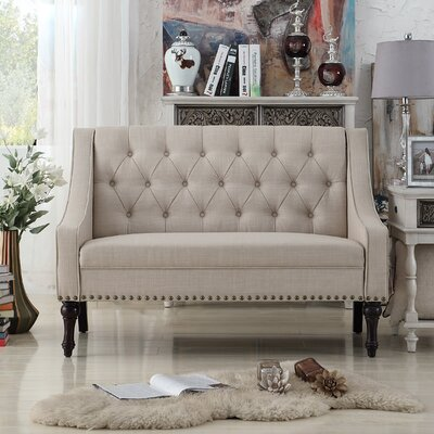 Christiansburg Tufted Loveseat Upholstery : Beige