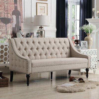 Christiansburg Tufted Sofa Upholstery : Beige