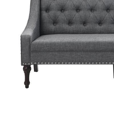 Christiansburg Tufted Sofa Upholstery: Burgundy