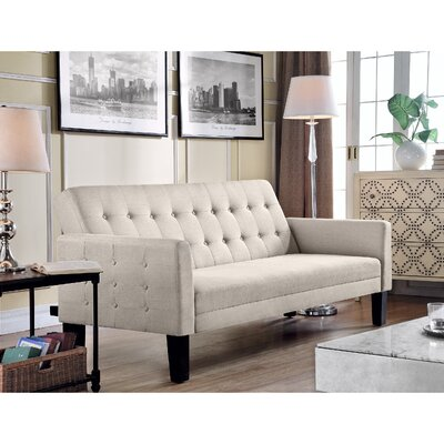 Arianna Sofa Bed Upholstery: Beige
