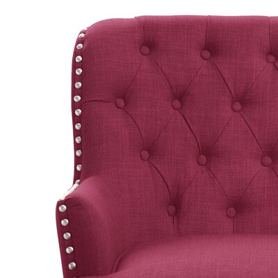Jagger Arm Chair Upholstery: Burgundy