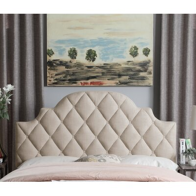 Aderyn Upholstered Panel Headboard Size: King, Color: Beige
