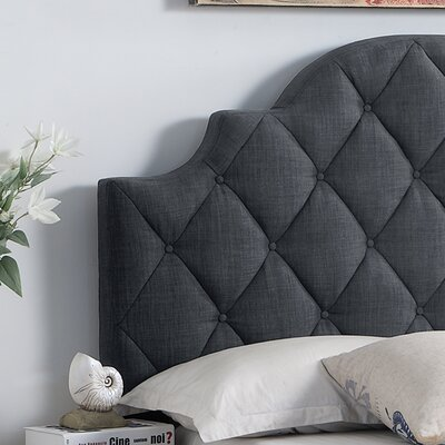Norfleet Diamond Tufted Upholstered Storage Panel Bed Color: Charcoal, Size: King