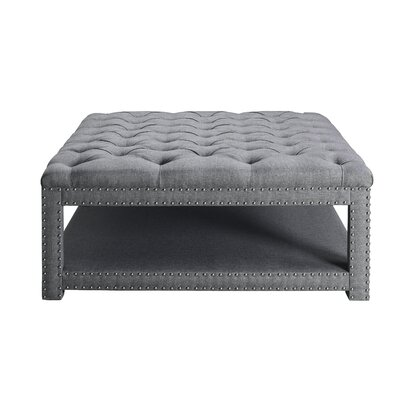 Heidy Cocktail Ottoman Size: 18 H x 40.5 W x 40.5 D, Color: Gray