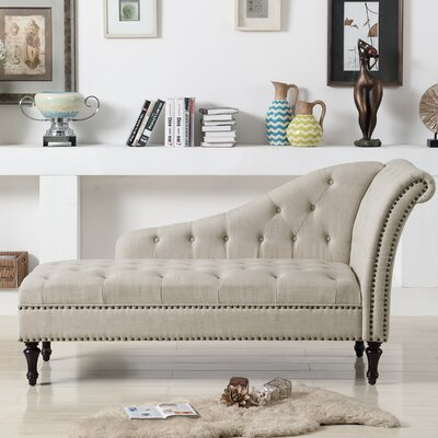 Deedee Chaise Lounge Color: Beige