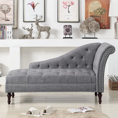 Deedee Chaise Lounge Color: Gray