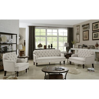 Fonzo Loveseat Upholstery Color: Beige
