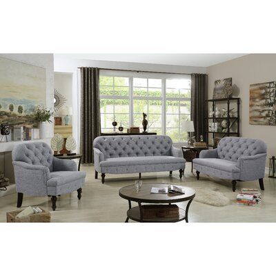 Fonzo Loveseat Upholstery Color: Gray