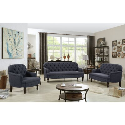 Fonzo Loveseat Upholstery Color: Charcoal