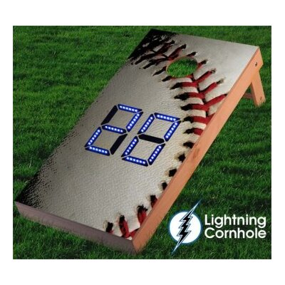Electronic Scoring Baseball Cornhole Board Color: Blue lboardsports004-Blu