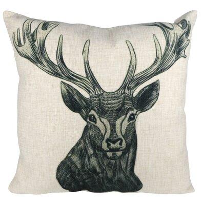 Tattoo Deer Throw Pillow