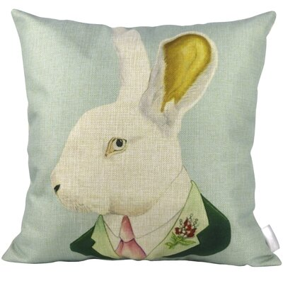 Mr Rabbit Throw Pillow