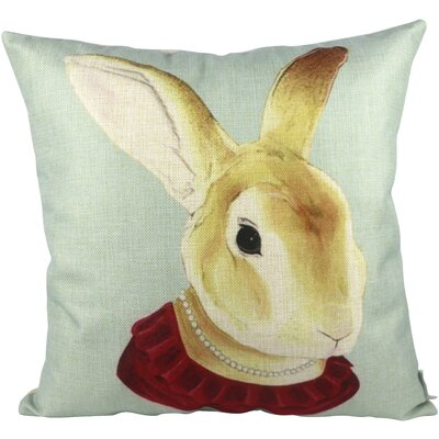 Mrs Rabbit Throw Pillow