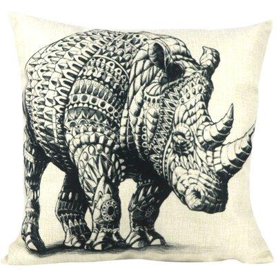 Tattoo Rhinoceros  Throw Pillow