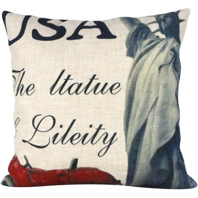 Liberty Status  Throw Pillow