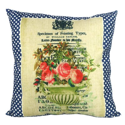 Polka Dots Flower Throw Pillow
