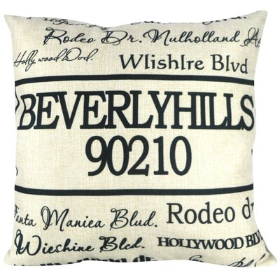 90210 Beverly Hills Throw Pillow