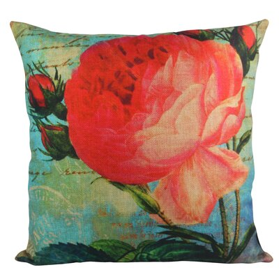 Rose Bloom Garden Throw Pillow