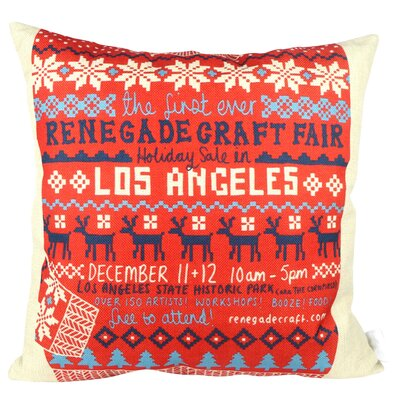 Christmas Sweater Los Angeles Throw Pillow