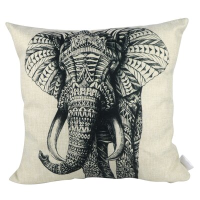 Tattoo Elephant Throw Pillow
