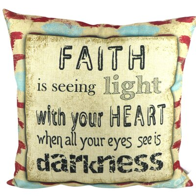 Faith Quotes Throw Pillow