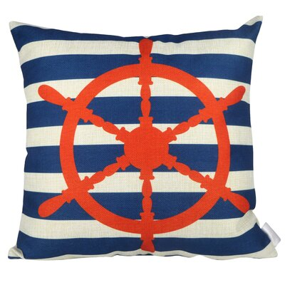 Stripe Wheels Throw Pillow