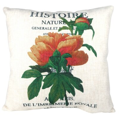 French Classic Histoire Flower Throw Pillow
