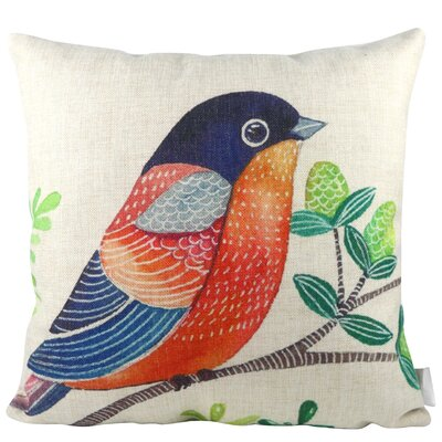 Bird on Tree Throw Pillow