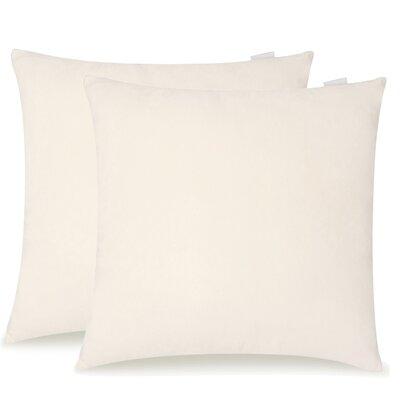 Dugan Soft Suede Throw Pillows Color: Beige