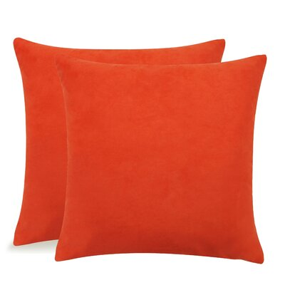 Dugan Soft Suede Throw Pillows Color: Orange