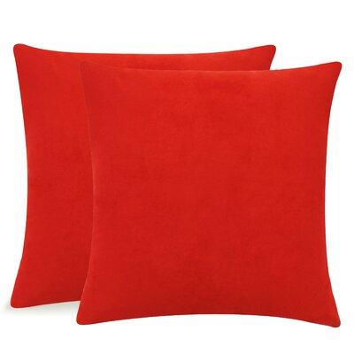 Dugan Soft Suede Throw Pillows Color: Red