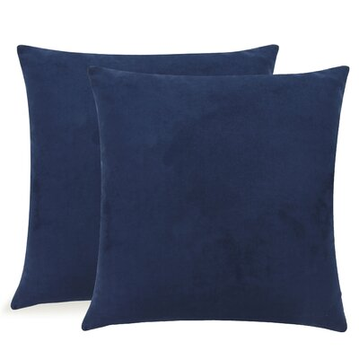 Dugan Soft Suede Throw Pillows Color: Navy/Blue