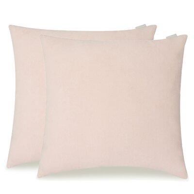 Dugan Soft Suede Throw Pillows Color: Peach