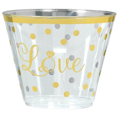 Sparkling Wedding 9oz Plastic Cup 350229