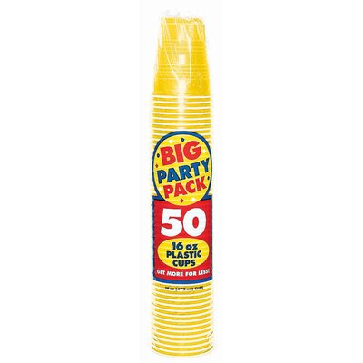 Everyday Big Party 16 oz. Plastic Cup Color: Sunshine Yellow 436801.09
