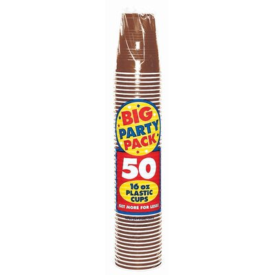 Everyday Big Party 16 oz. Plastic Cup Color: Chocolate Brown 436801.111
