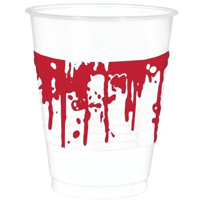 Halloween Blood Splattered 16 oz. Plastic Everyday Cup 420045