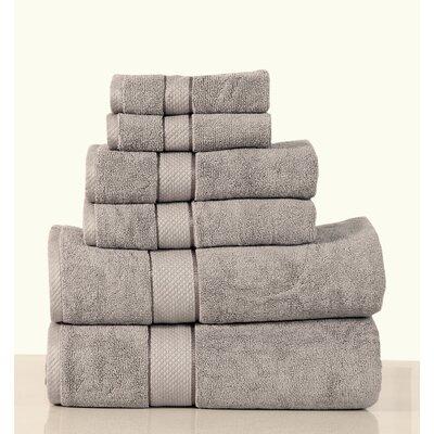 Luxurious 6 Piece Bath Towel Set Color: Gray