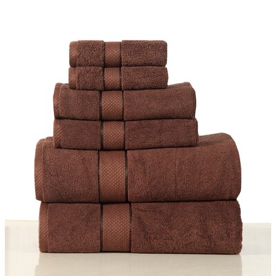 Luxurious 6 Piece Bath Towel Set Color: Chocolate