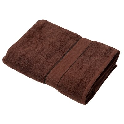 Luxurious Bath Towel Color: Chocolate